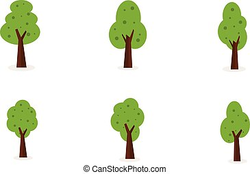 Vector art of tree set collection
