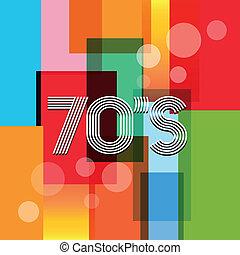 vector, arte, retro, plano de fondo, 70s