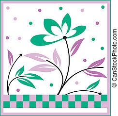 Vector artistic flower design
