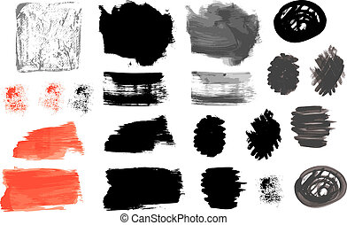 Vector artistic paint strokes