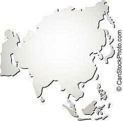 Vector Asia map