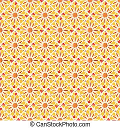 Vector Asian Geometric Pattern - Seamless texture with...