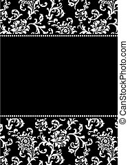 Vector Asian Pattern and Black Frame