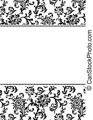 Vector Asian Pattern and White Border - Vector asian themed...