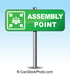 Vector assembly point signpost