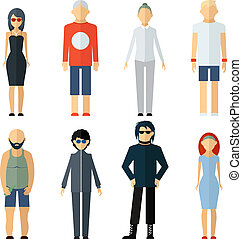 Vector Assorted People on Different Lifestyle