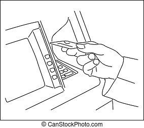 Vector-ATM machine - 100% Adobe Illustrator vector image...