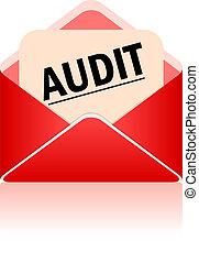 Vector audit symbol isolated on white background