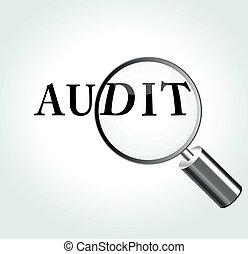 Vector audit theme illustration - Vector illustration of...