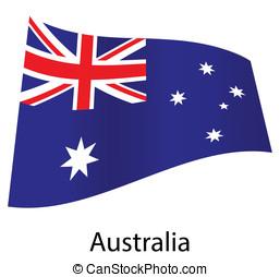 vector australia flag isolated
