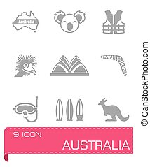 Vector Australia icon set