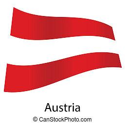 vector austria flag isolated