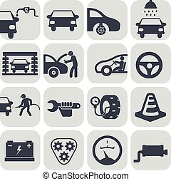 Vector auto car icons set