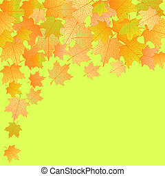 Vector autumn background.