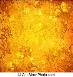 Vector autumn background