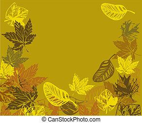 vector autumn frame