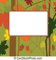 Vector autumn frame