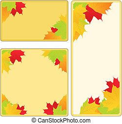 Vector Autumn Frames