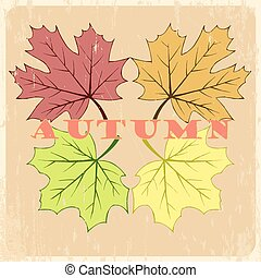 Vector autumn hand drawn leaves