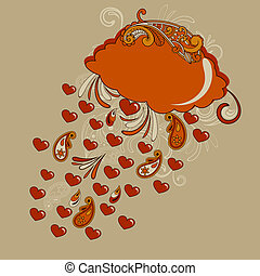 Vector Autumn Hearts Rain