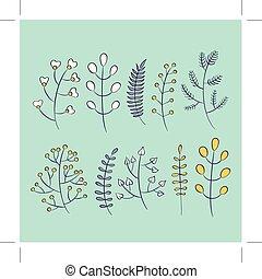 Vector autumn leaf floral frame template