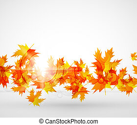 Vector autumn leaves abstract background - Vector...