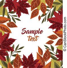 Vector autumn leaves - Vector illustration of autumn leaves...