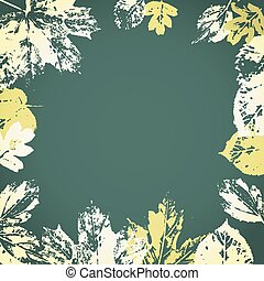 Vector autumn leaves frame. - Vector autumn leaves frame on...