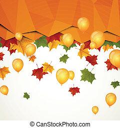 Vector Illustration of Autumn Leaves
