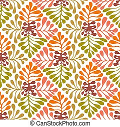 Vector Autumn seamless floral pattern