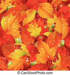 Vector Autumnal seamless background