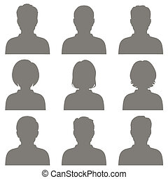 avatar - vector avatar, profile icon, head silhouette