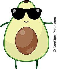 avocado - vector avocado wearing sunglasses