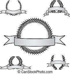 Vector Award Crest Set