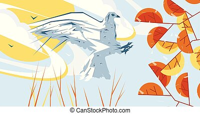 Vector awesome flat graphic illustration