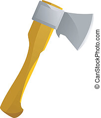 Vector axe on a white background