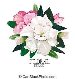 Vector azalea vignette - Azalea vignette. Vector floral ...