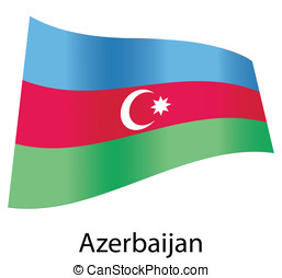 vector azerbaijan flag isolated;