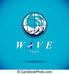 vector, azul, agua clara, gota, logotipo, para, uso, como, mercadotecnia, diseño, símbolo., cuerpo, limpieza, concept.