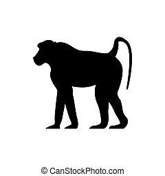 vector baboon silhouette