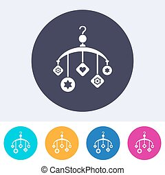 Vector baby bed carousel icon