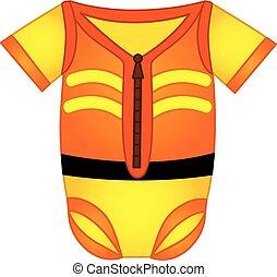 Vector Baby Bodysuit in Construction Style - Vector baby...