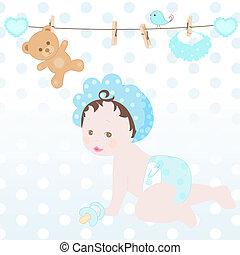 vector baby boy shower
