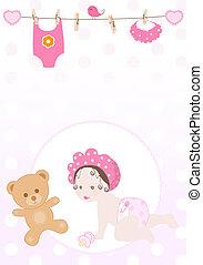 vector baby girl - vector sweet baby girl