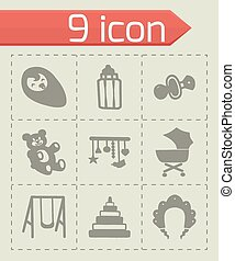 Vector Baby icon set