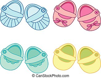 vector baby shoes icon, baby shower