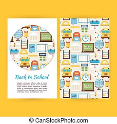 Vector Back to School Business Banners Set Template