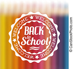 vector back to school illustration - vector retro style back...