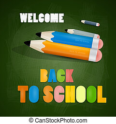 Vector Back to school theme