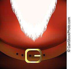 vector, backgroun, holyday, santa, cinturón